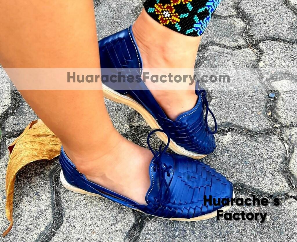 huarache mujer Azul